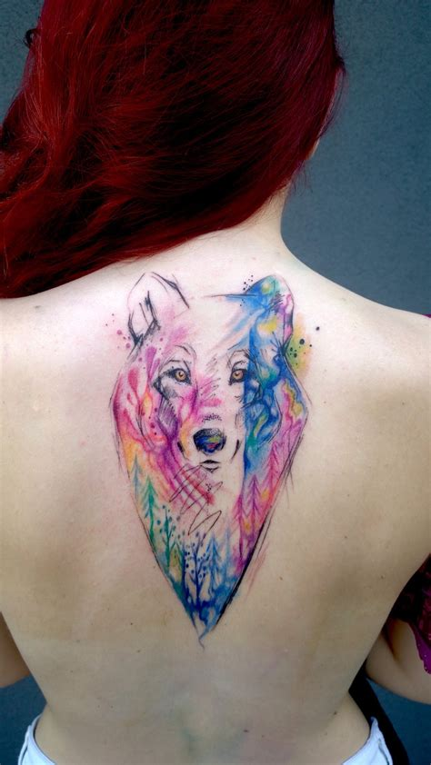 watercolor wolf tattoo watercolor wolf by blue birch insight on deviantart