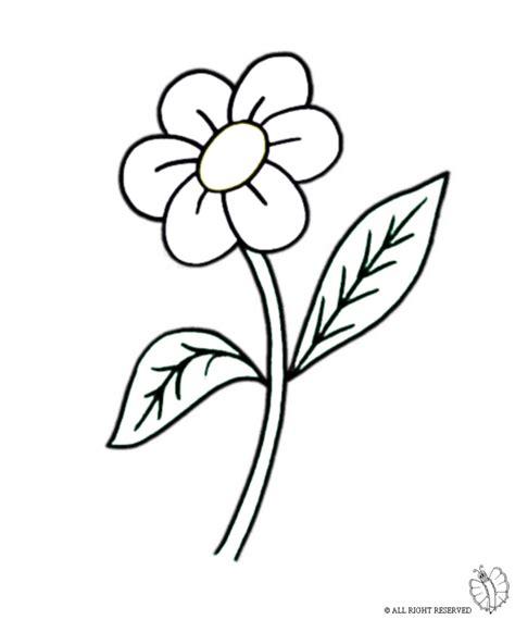 fiore disegni disegni di fiori da colorare dt54 pineglen