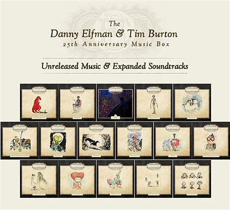 danny elfman tim burton music box danny elfman tim burton team for 25th anniversary music