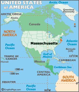 massachusetts map / geography of massachusetts/ map of