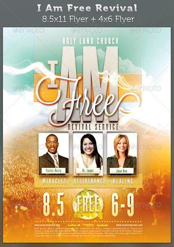 church revival flyer template free 8 best images of church anniversary flyer templates