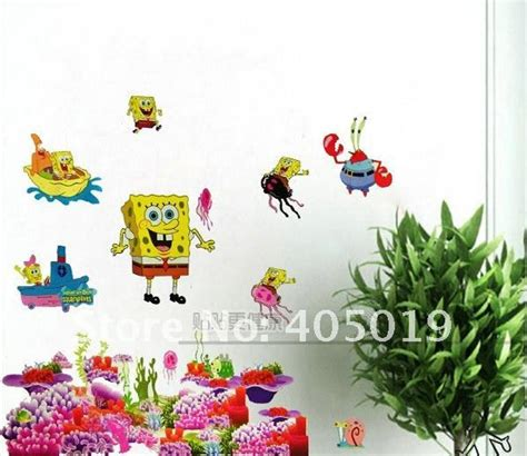 Daycare Wall Decor by Ysh080 Spongebob Squarepant Wall Stickers Large Size