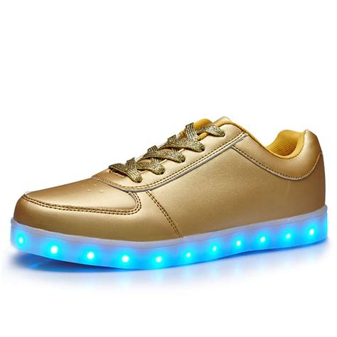 light shoes for amazon com helens 7 colors led light up shoes gold for