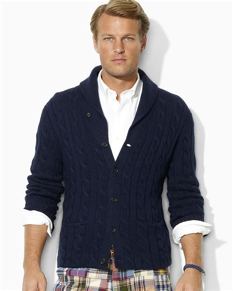 Polo Ralph Lauren Long Sleeved Cotton Cashmere Cable Knit Cardigan   Bloomingdale's