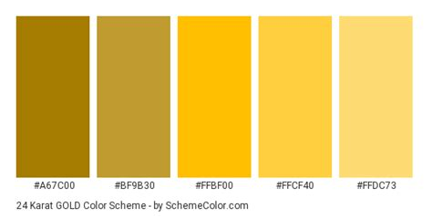 how to make gold color 24 karat gold color scheme 187 gold 187 schemecolor