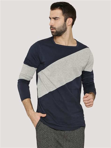 Panel Sleeve T Shirt buy kultprit diagonal panel t shirt in sleeves for