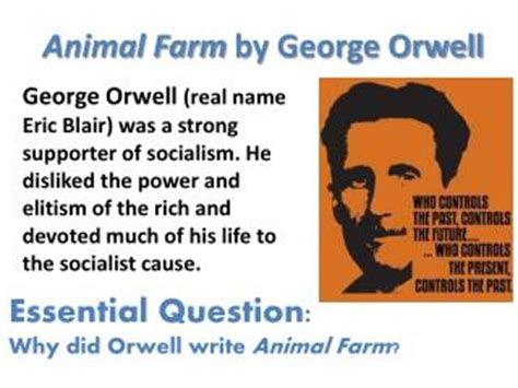 george orwell biography powerpoint ppt animal farm by george orwell powerpoint