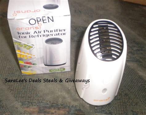 oransi ionic fridge air purifier saralee s deals steals giveaways
