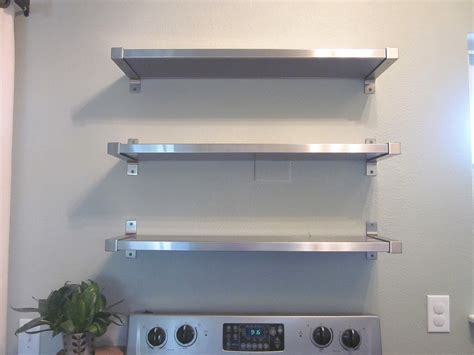 stainless steel kitchen cabinets ikea floating stainless steel kitchen shelves kitchentoday