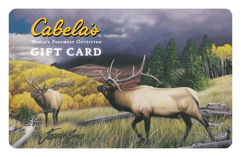 Cabelas Gift Card - joshua spies art featured on cabela s gift cards