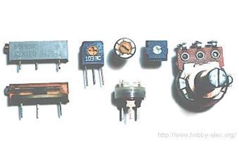variable resistor working resistors