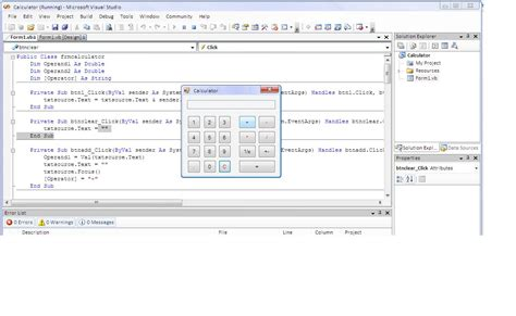 coding visual basic calculator vb net calculator free source code tutorials and articles