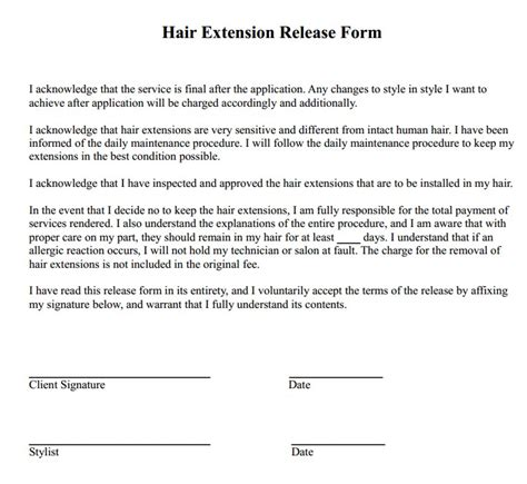 Color Correction Client Consent Form Free Download Of 22 Amazing Hair Color Correction Waiver Hair Extension Consultation Form Template