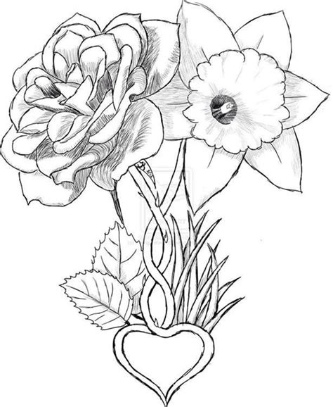 daffodil and rose tattoo 25 best ideas about may birth flowers on