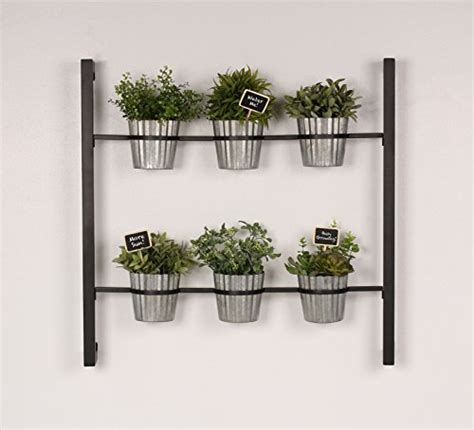 indoor herb garden wall mounted kate and laurel groves indoor vertical herb garden hanging 6 pot wall planter black stylish