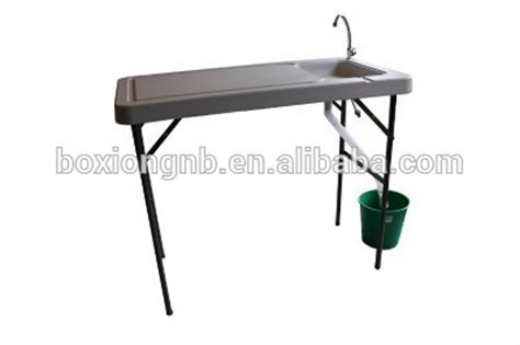 fillet table with sink plastic folding portable fish table fillet table with sink
