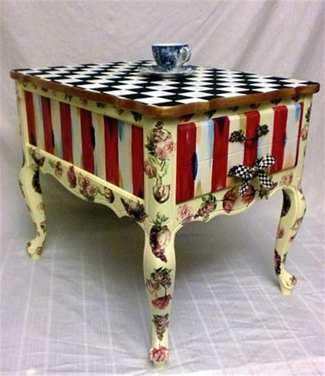 side table accent table vintage whimsical golfer s 158 best mackenzie childs images on pinterest painted