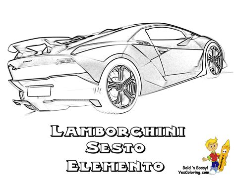 lamborghini coloring pages free coloring pages of sesto elemento