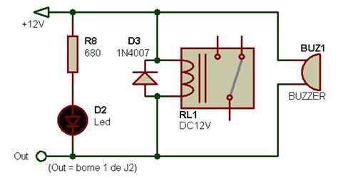 test diode de roue libre electronique realisations alarme non rotation 001