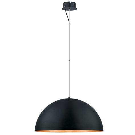 Eglo Gaetano 100 Watt Black Integrated LED Pendant 201295A The Home Depot