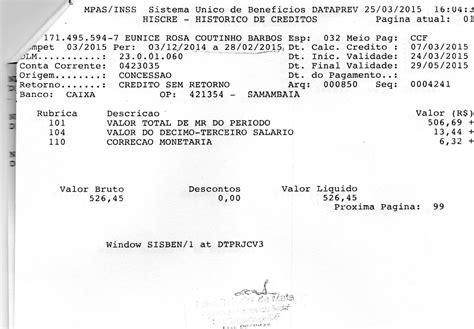 rendimento de aposentadoria 2015 folha de rendimento inss 2015 reclame aqui gt inss minist