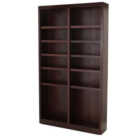 midas wide 12 shelf bookcase in cherry mi4884 c