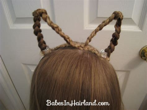 halloween themed hairstyles cat ears using your own hair halloween babes in hairland