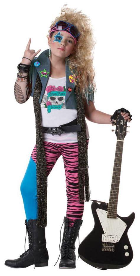 halloween rockstar hairstyles 80 s glam punk rocker rock star child costume ebay