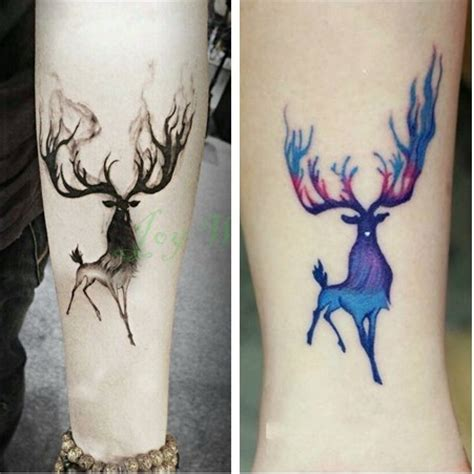 X087 Tatto Temporary Stiker Size 10 5 X 6cm waterproof temporary sticker 10 5 6 cm moose deer