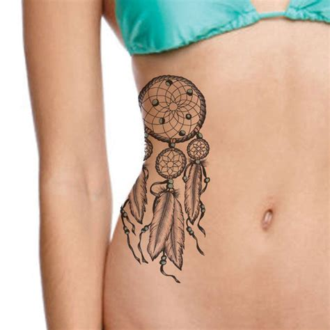 Dreamcatcher Tattoo Temporary | two set of large dreamcatcher temporary tattoos native
