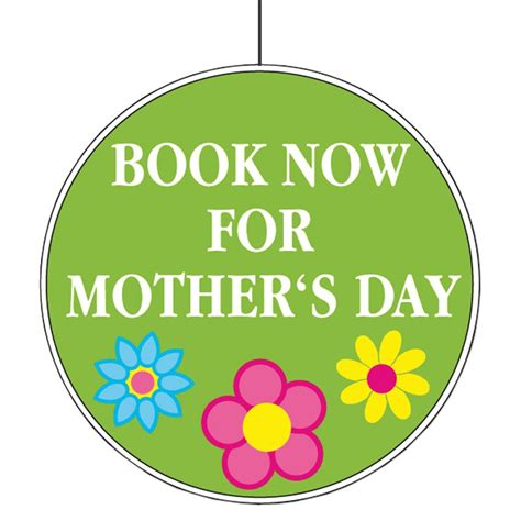Book now for mothers day cut out 28cm peeks