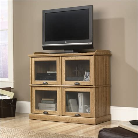 highboy tv stands sauder barrister highboy scribed oak tv stand ebay