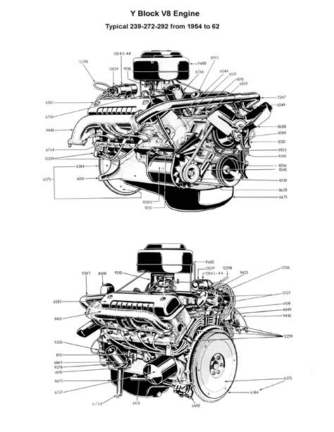 ford 292 y block engine diagram ford auto parts catalog