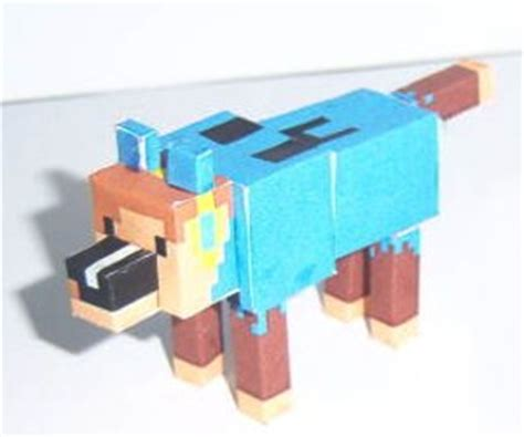 How To Make Paper Minecraft Characters - minecraft wolf character generator