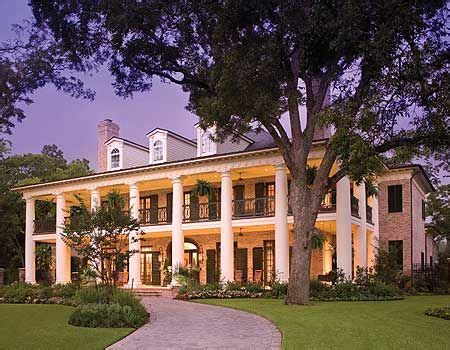 southern luxury house plans plantation style homes on pinterest southern plantation