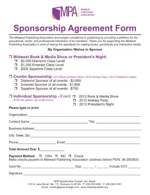Corporate Sponsorship Proposal Template Forms Fillable Printable Sles For Pdf Word Corporate Sponsorship Form Template