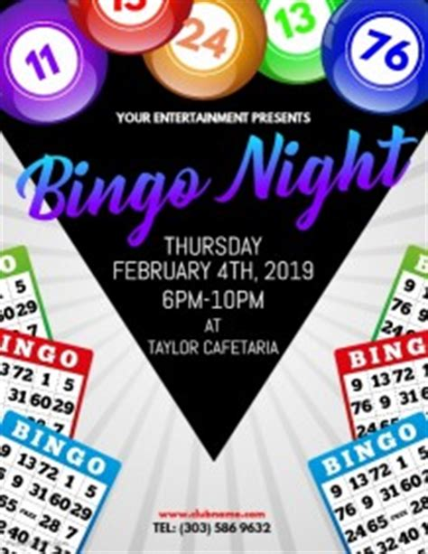 Customizable Design Templates For Bingo Night Postermywall Bingo Flyer Template Free