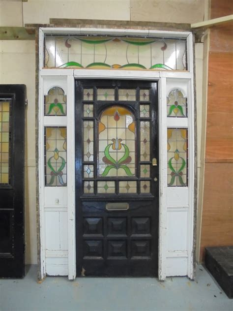 edwardian stained glass front door edwardian stained glass door and frame authentic reclamation