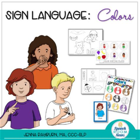 sign language for colors sign language colors asl activities to teach color
