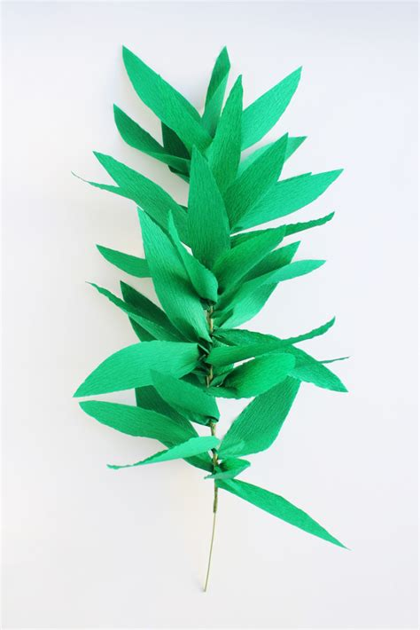 How To Make A Leaf Out Of Paper - 26 diy leaf garland ideas guide patterns
