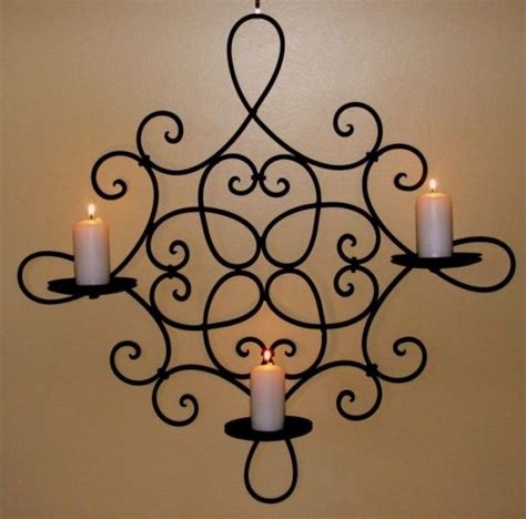 candle wall decor wrought iron candle holders beautiful decoration for the