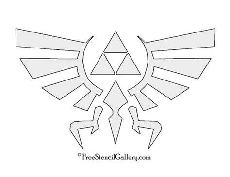 zelda pumpkin pattern the legend of zelda triforce symbol stencil props