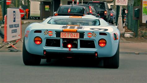 gulf gt40 ford gt40 gulf livery lovely sounds start up and