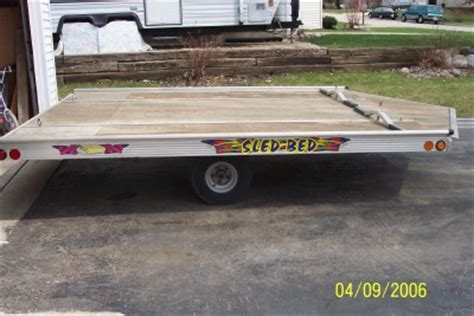 sled bed trailer 2000 sled bed drive on off price reduced watertown wisconsin