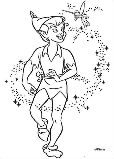 peter pan coloring pages peter pan with tinkerbell