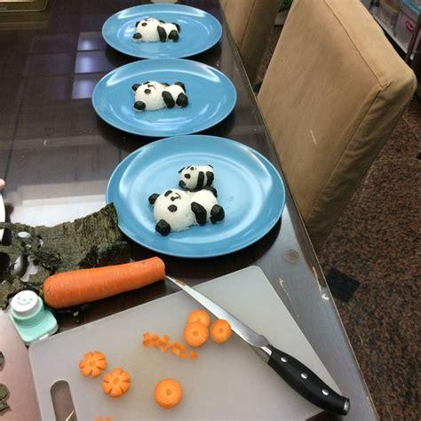 panda inspired food    children bored panda