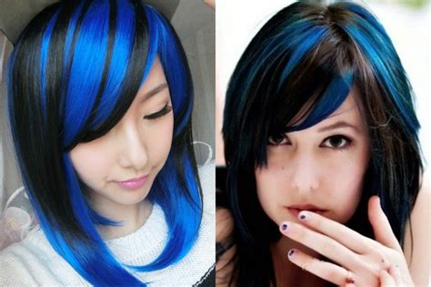 Blue Hairstyles by Black And Blue Hairstyles Definitely Not For The Faint