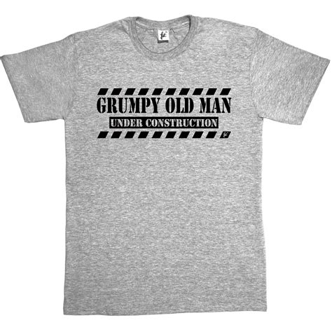 christmas present for grumpy old man grumpy construction fathers day gift builder birthday mens t shirt ebay