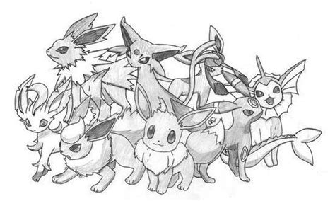 pokemon coloring pages all eevee evolutions pokemon flareon coloring pages images pokemon images