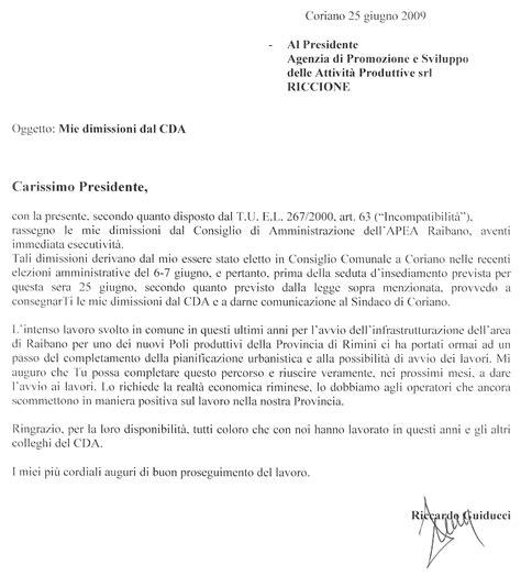 lettere dimissioni apea raibano dimissioni consigliere riccardo guiducci